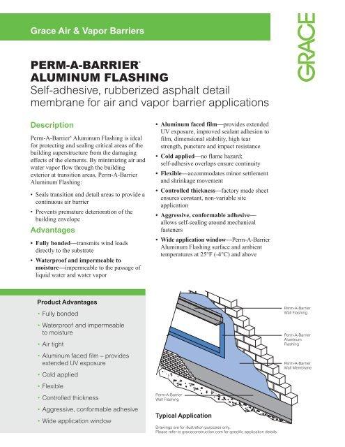 PERM-A-BARRIER® ALUMINUM FLASHING Self-adhesive - Grace