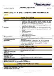 acrylate paint for horizontal road marking city short description