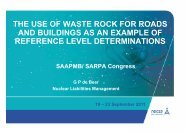 THE USE OF WASTE ROCK FOR ROADS AND BUILDINGS AS AN ...