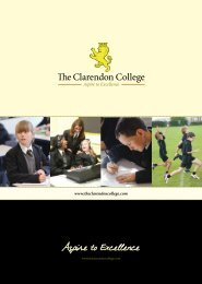 Aspire to Excellence - The Clarendon College