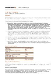 Rhoplex NTS-2923 - The Dow Chemical Company