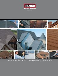 Residential PRoduct Guide - Tamko