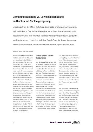 Artikel als PDF herunterladen - binder.ch