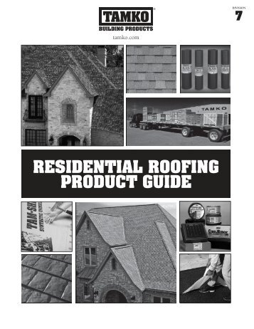 Residential roofing product guide - Tamko