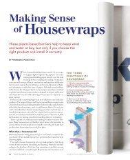 Making Sense of Housewraps - Fine Homebuilding