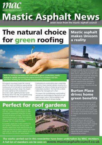 Mastic Asphalt News - Ecobuild