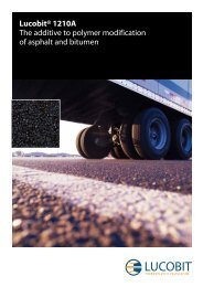 Lucobit® 1210A The additive to polymer modification of asphalt and ...