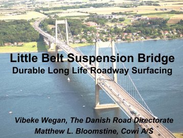 Little Belt Suspension Bridge – Durable Long Life ... - Icsboc.com