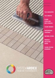 TILE ADHESIVES TILE GROUTS FLOOR ... - Ardex UK Ltd.