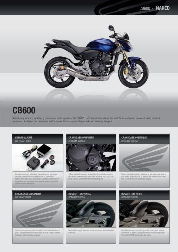 CB600  NAKED - Honda Motorcycles