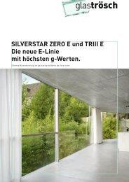 Mit Kombinationen von ZERO E und TRIII E können ... - Glas Trösch
