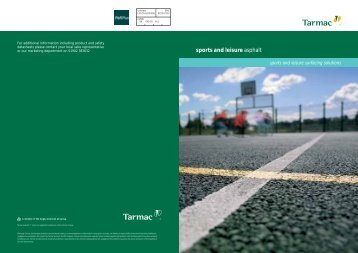 Sports and Leisure Asphalt Surfacing Brochure - Tarmac Limited