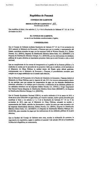 No 27254-A Gaceta Oficial Digital, miércoles 27 de marzo de 2013 1
