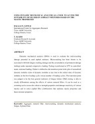 Using Dynamic Mechanical Analysis As A Tool To Access The ... - aftre