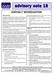 Advisory Note 18 - Australian Asphalt Pavement Association