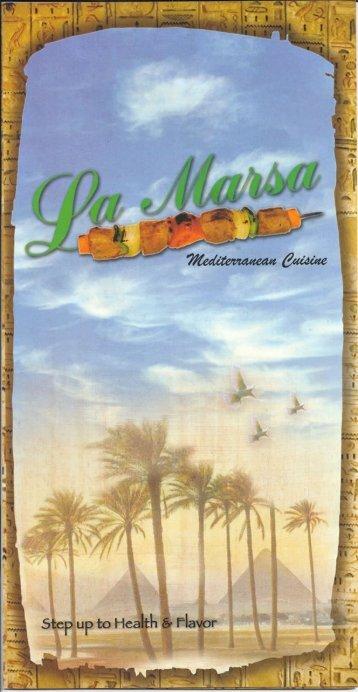 Menu - La Marsa