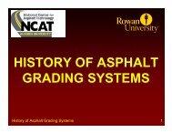HISTORY OF ASPHALT GRADING SYSTEMS - Rowan