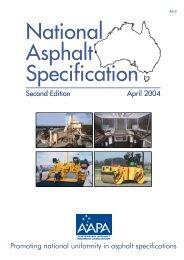AAPA National Asphalt Specification - Australian Asphalt Pavement ...