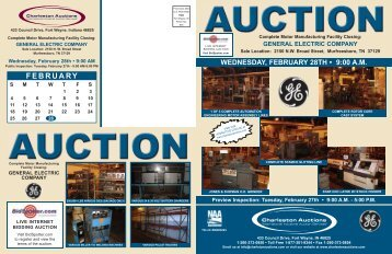 Tuesday, February 27th – 9:00 AM - Charleston Auctions