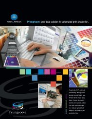 Printgroove: your total solution for automated print ... - Konica Minolta