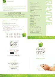 day spa treatments - Green Apple