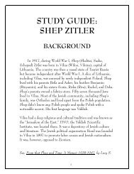 STUDY GUIDE: SHEP ZITLER - Southern Institute for Education and ...