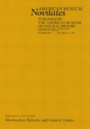 View/Open - AMNH Scientific Publications - American Museum of ...