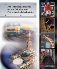 3M™ Product Solutions for the Oil, Gas and Petrochemicals Industries