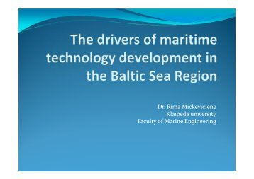 The drivers of maritime technology development in the