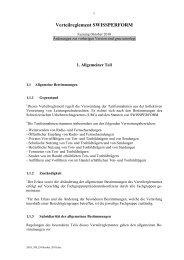 Verteilreglement SWISSPERFORM