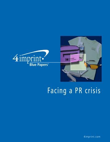 Facing a PR crisis - 4imprint Promotional Products Blog