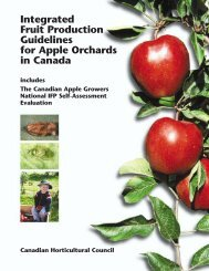IFP Guidelines for Apple Orchards in Canada - Canadian ...