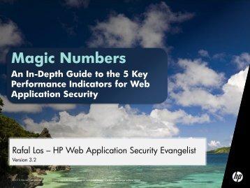 Magic Numbers - 5 KPIs - owasp