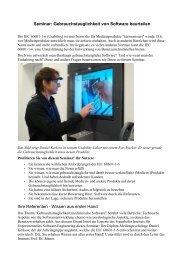Seminar: Gebrauchstauglichkeit von Software beurteilen Ihre ... - SPIQ