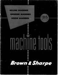 Brown & Sharpe Milliing Grinder & Screw Machine - Sterling ...