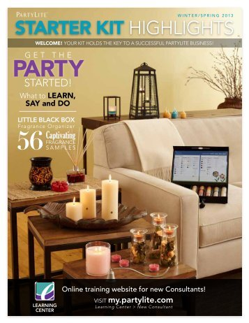 starter kit highlights - PartyLite | New Consultant Learning Center