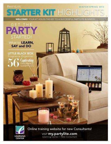 starter kit highlights - PartyLite | New Consultant Learning Center