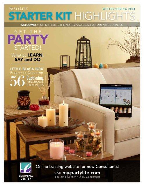 Starter Kit Highlights Partylite New Consultant Learning Center