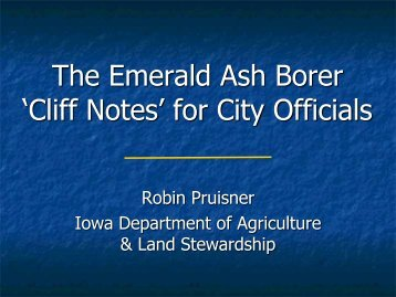 """The Emerald Ash Borer """"Cliff Notes"""" for City Officials"""