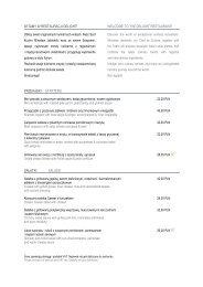 Download menu in PDF - Vienna International Hotels