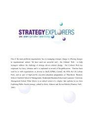 Cultural Web - Strategy Explorers