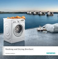 Washing and Drying Brochure - Siemens Home Appliances