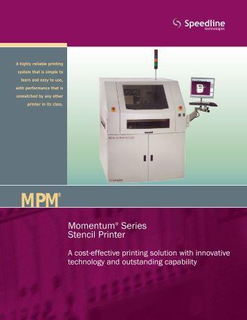 Momentum® Series Stencil Printer - Speedline Technologies