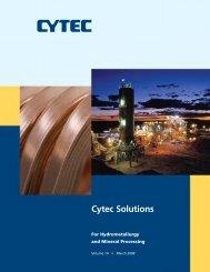 Cytec Solutions, Volume 14 - CYTEC Industries