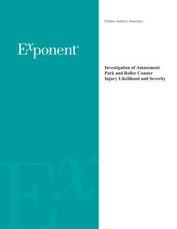 Investigation of amusement park and rollercoaster injury likelihood