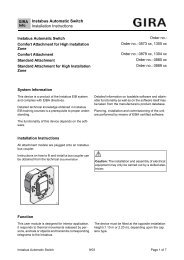 Instabus Automatic Switch Installation Instructions - Download - Gira