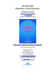 Jan Scholten Repertory of the Elements - Homeopathy books ...