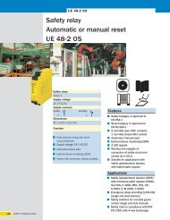 Safety relay Automatic or manual reset UE 48-2 OS