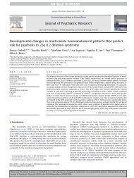 Developmental changes in multivariate neuroanatomical patterns ...