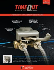 AutomAtic Shut-off VAlVe for WAShing mAchineS